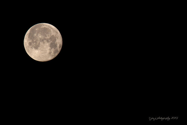 April 26 - Hey all you sleepyheads...did you see this moon at 5:45 this morning??  It will be so nice to not have to think about taking a photo for the rest of the day.