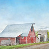 June 9 - There is an unending supply of red barns here..