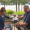 July 9 - Celebrating 36 years of wedded bliss with dinner on the waterfront...it's just a different body of water than the previous 35 years.