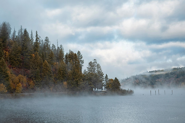 September 27 - Smoke on the water...a stop at Beauty Bay  #CY365 - Where I Stand Lake Coeur d'Alene, ID