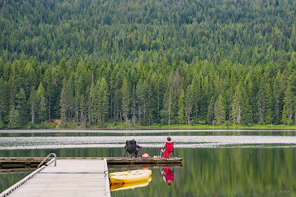 August 19 - There is no shortage of trees in North Idaho...<br /> <br /> #CY365 - Reflections<br /> Round Lake State Park<br /> Sagle, ID