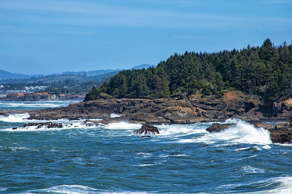 April 24 - A beautiful day on the Oregon coast. There are no sunbathers on these beaches however...