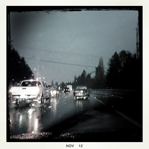 19 Nov 2012: Rainy commute