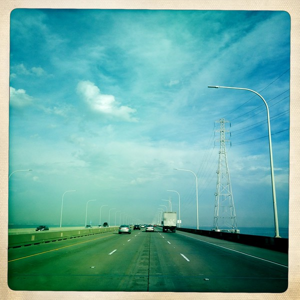 15 Nov 2012: Crossing the San Mateo Bridge