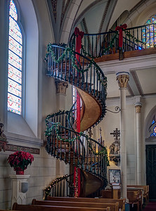 5 Dec 2014: Loretta Chapel in Santa Fe. This is a famous unsupported spiral staircase.