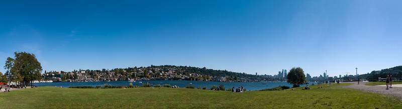 13 Sep 2014: The view from Gasworks Park.