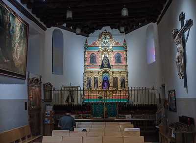 30 Nov 2014: Interior of the Cathedral Basilica of St. Francis of Assisi in Santa Fe