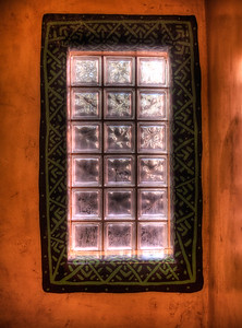 19 Dec 2014: The window in the shower in our cabin in Taos
