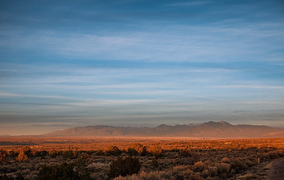 25 Dec 2014: Sunset near Taos