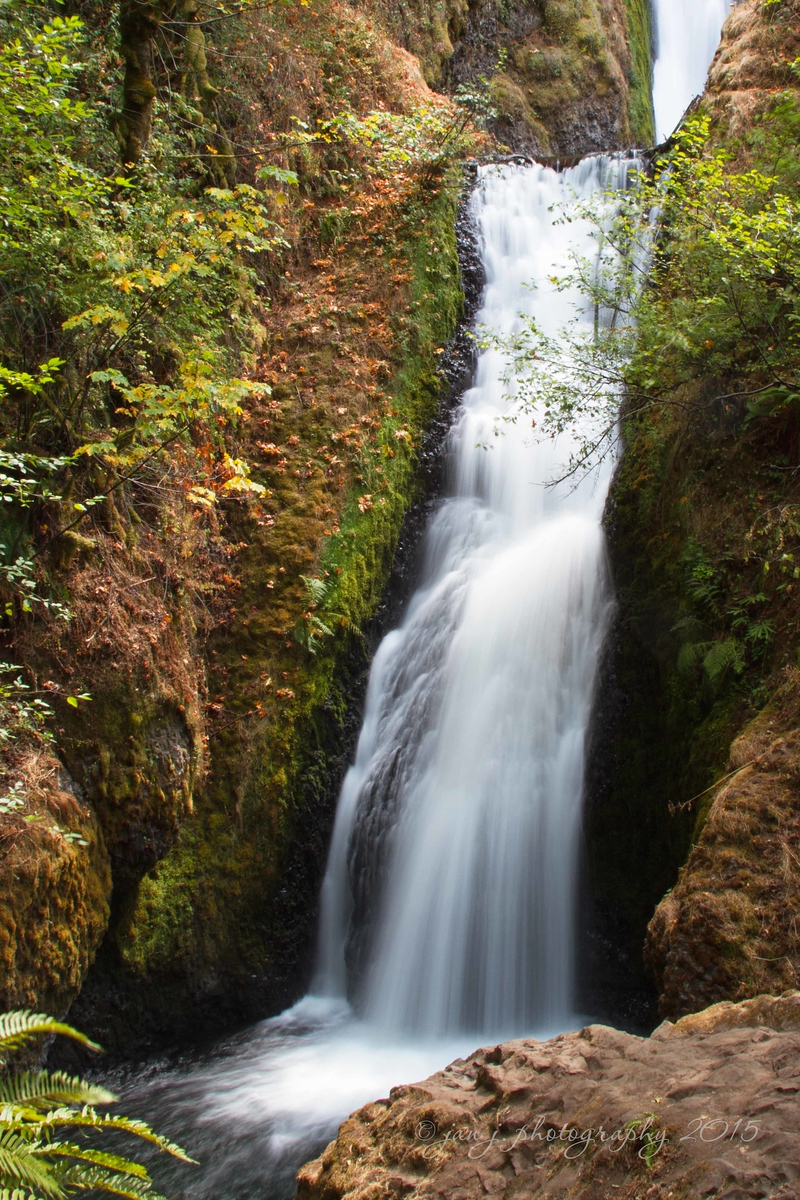August 3 - Along the Historic Columbia River Highway.  Bridal Veil Falls