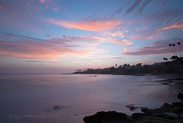 July 25 - No dinner, just a sunset in Laguna Beach...  #CY365 - With clouds (glad the clouds cooperated with the prompt)
