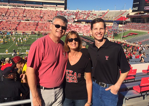 October 15 - Greeting from Texas Tech.  At what will probably be our last football game here...  Lubbock, TX