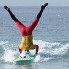 November 19 - Santa shows off at the annual Surfing Santa competition...<br /> <br /> Salt Creek Beach<br /> Dana Point, CA