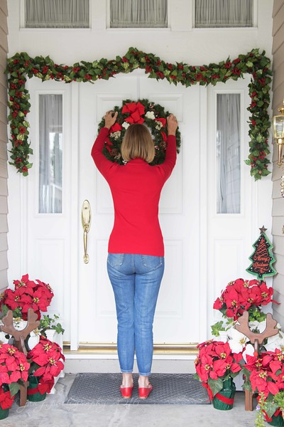 December 9 - The prettiest sight to see is the holly that will be on your own front door...<br /> <br /> #CY365 - Where I Stand/Step Back<br /> #notsurethiswasagoodidea