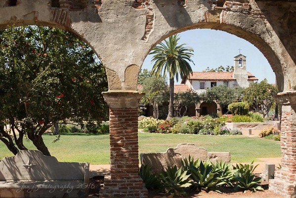 August 10 _ Meanwhile, back at the mission...  Mission San Juan Capistrano
