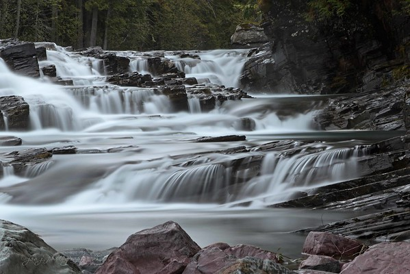 September 7 - Headed back to the river for some more long exposure practice...this time without interruption.  Glacier National Park Montana