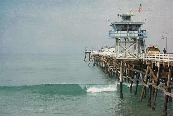 August 22 - Our view at breakfast..,  San Clemente Pier, CA