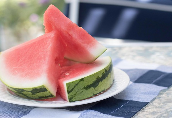 June 20 - With the mercury registering 103 degrees at 10:30 this morning, I decided the day called for some ice cold watermelon...