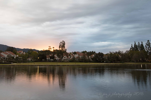 December 30 - The dawn of another beautiful day! An extra exciting day as my one daughter flies in...meaning two of the three kids will be home for the next week!!!! I'm a happy mama!  Rancho Santa Margarita Lake Rancho Santa Margarita, CA