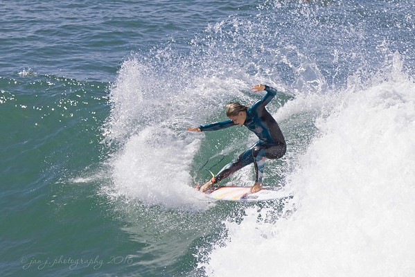 July 20 - Surf's Up!!  There were some very talented young ladies out there today...  Huntington Beach, CA