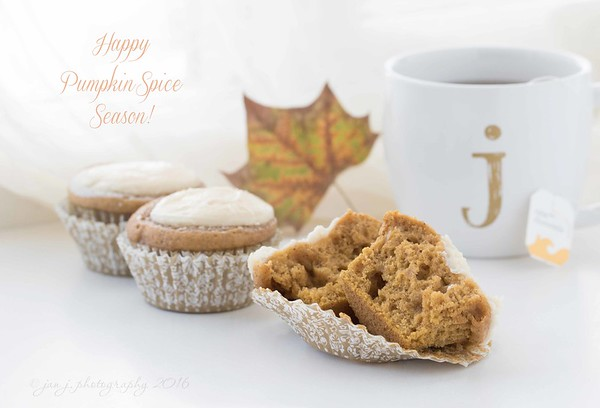 September 28 - I make my own Fall...  #CY365 - Arranged Pumpkin Spice Cream Cheese Muffins  Recipe from @crazyforcrust