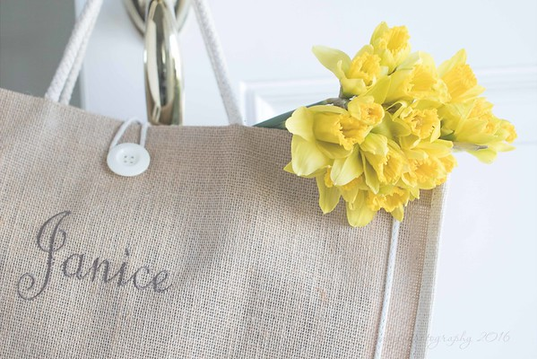 March 1 - I brought a little Spring home in my bag...