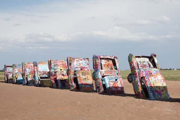 May 14 - An iconic stop along the way...<br /> <br /> Cadillac Ranch<br /> Amarillo, TX