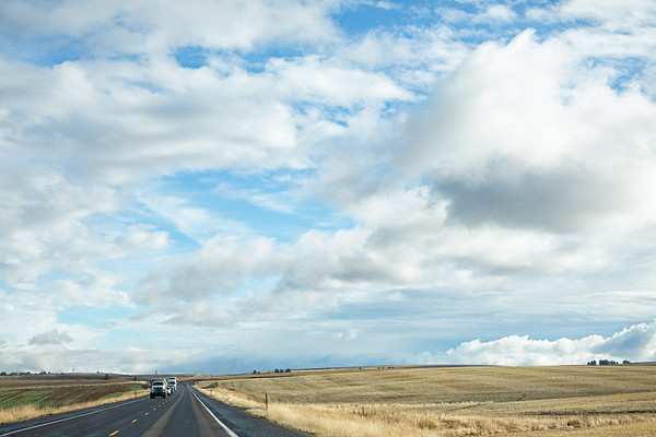 November 16 - The long road home...the clouds are always my entertainment.