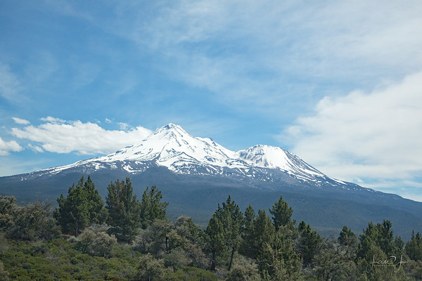 June 15 - A day on the road...A drive-by shot of Mount Shasta  #CY365 - Go Wide
