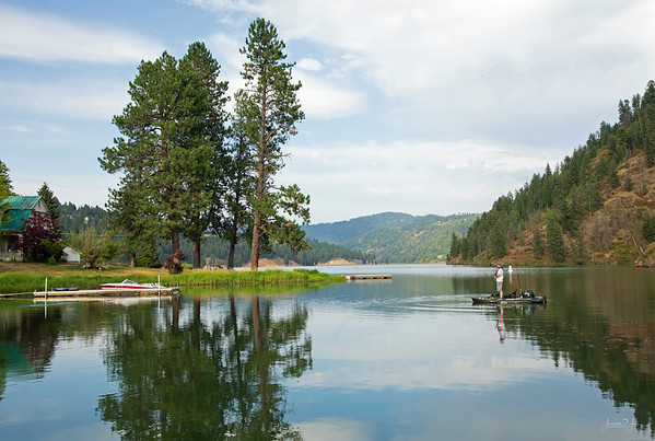 August 9 - A quiet afternoon at the lake...<br /> <br /> Fernan Lake<br /> Coeur d'Alene, ID