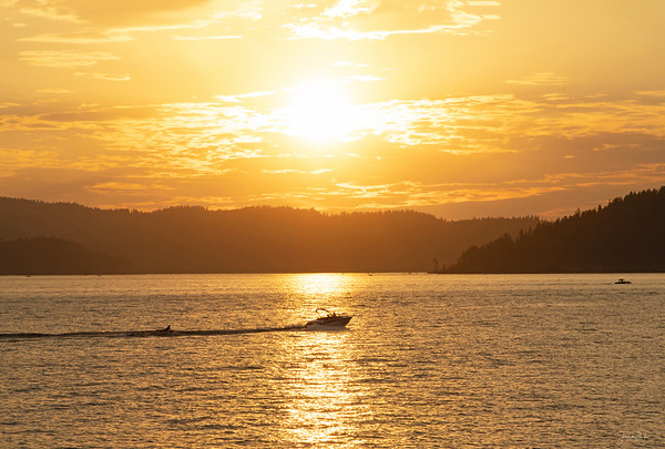 August 10 - The last run of the day...<br /> <br /> Lake Coeur d'Alene<br /> Coeur d'Alene, ID