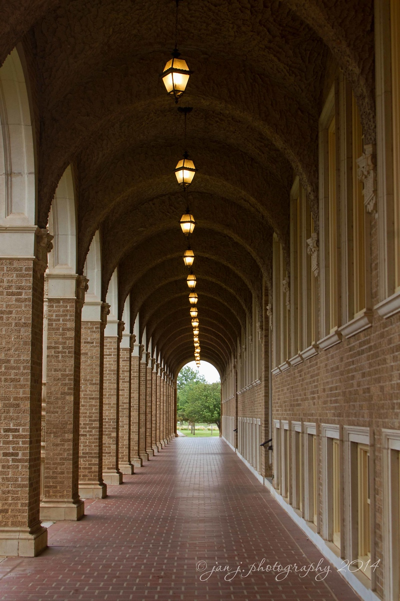 I love all the arched walkways on campus.
