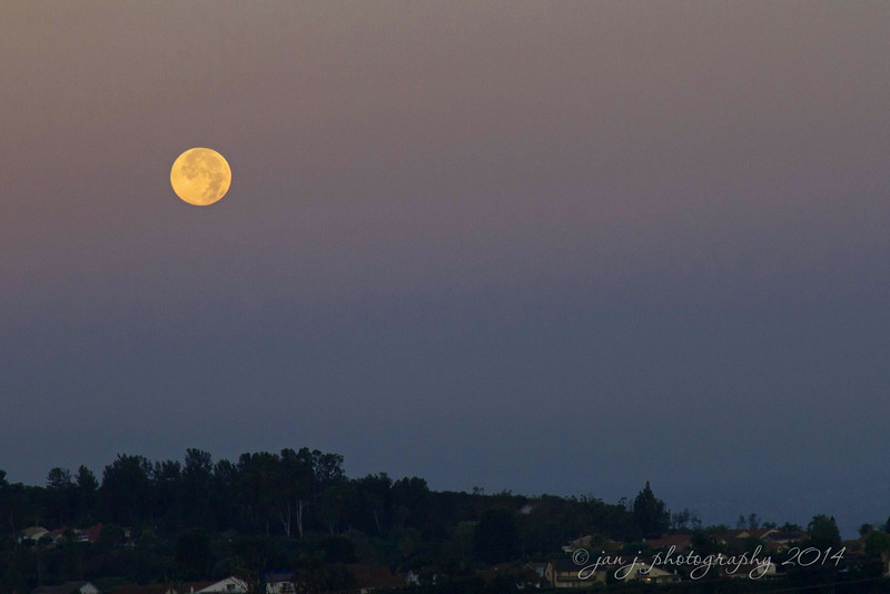 July 13 - Morning Moon over Mission Viejo