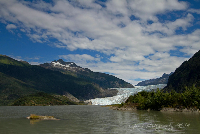August 23 - I've spent many days at the Mendenhall Glacier, but this is one of the most beautiful days I've seen.