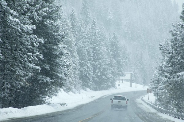 February 27 - On the road again.  Today I'm thankful for snowplows...<br /> <br /> #CY365 - Commute<br /> Bonners Ferry, ID