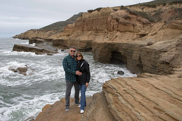 January 3 - I'm thankful for road trips...  Sunset Cliffs San Diego, CA