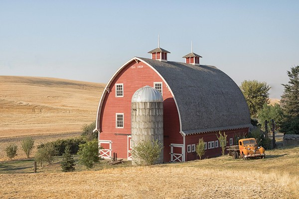"""September 15 - """"Farm livin' is the life for me""""... I would like to hug these people for making their properties so photogenic! I can hardly wait to get home and work on my images.  So thankful for a patient guy who is willing to pull over each time I yell """"Stop the car!!!""""<br /> <br /> #CY365 - Where I Stand<br /> The Palouse<br /> Colfax, WA"""