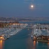 September 6 - Last night's moon over Dana Point Harbor. I'm thankful for so many shades of blue...<br /> <br /> Dana Point, CA