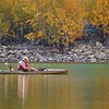 October 22 - This may not necessarily be my idea of fun, but I'm betting he was just as thankful for a quiet day fishing on the lake as I was to be there photographing...different strokes for different folks.<br /> <br /> #CY365 - Seasonal Light<br /> Lundy Lake<br /> Lee Vining, CA