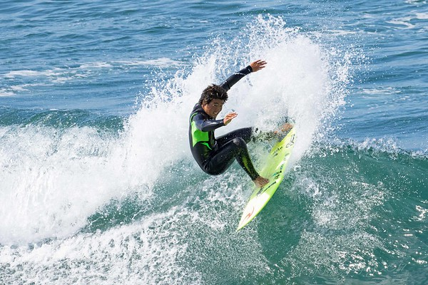 July 27 - Thankful to catch some of the pros practicing for the U.S. Open of Surfing in Huntington Beach. Sadly the waves were so small I could have surfed on them...well maybe not.<br /> <br /> #CY365 - Hot<br /> Huntington Beach, CA