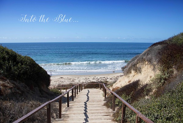 September 23 - Thankful for a gorgeous day and a walk on the beach...<br /> <br /> #CY365 - Blue/Azure/Cobalt<br /> Crystal Cove State Beach<br /> Laguna Beach, CA