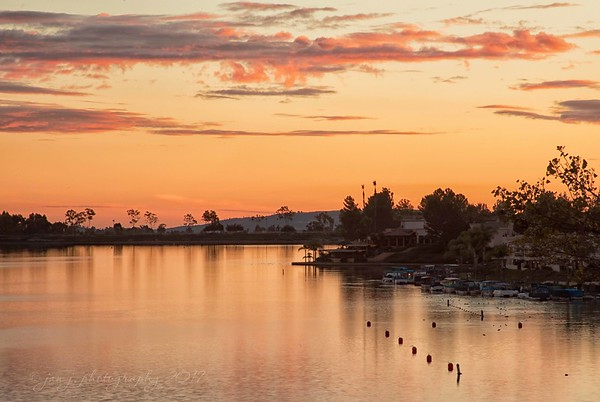 November 8 - Last night's sunset over Lake Mission Viejo.  I'm thankful for the clouds we get this time of the year that make for awesome sunsets and sunrises.<br /> <br /> Mission Viejo, CA