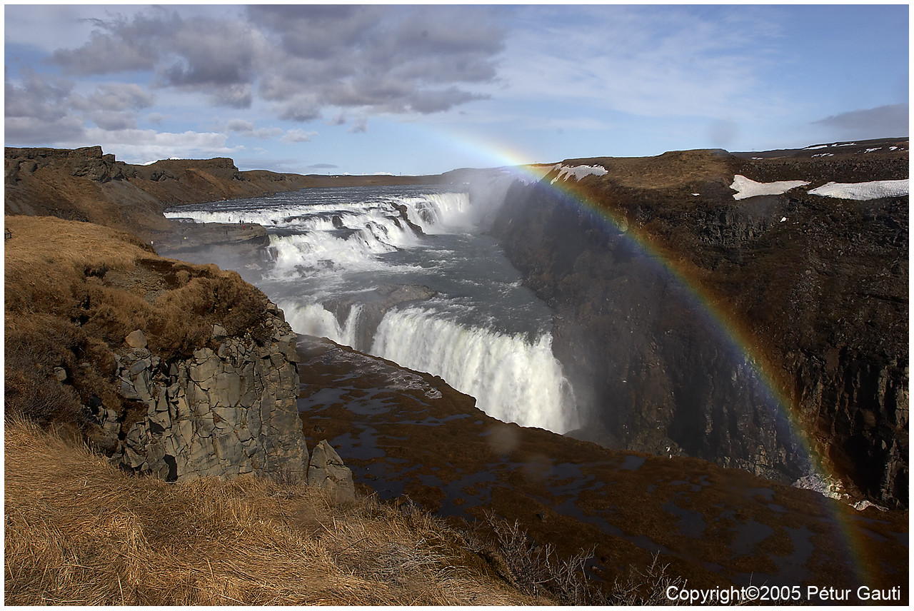 25 April. Gullfoss in spring, rainbow optional.