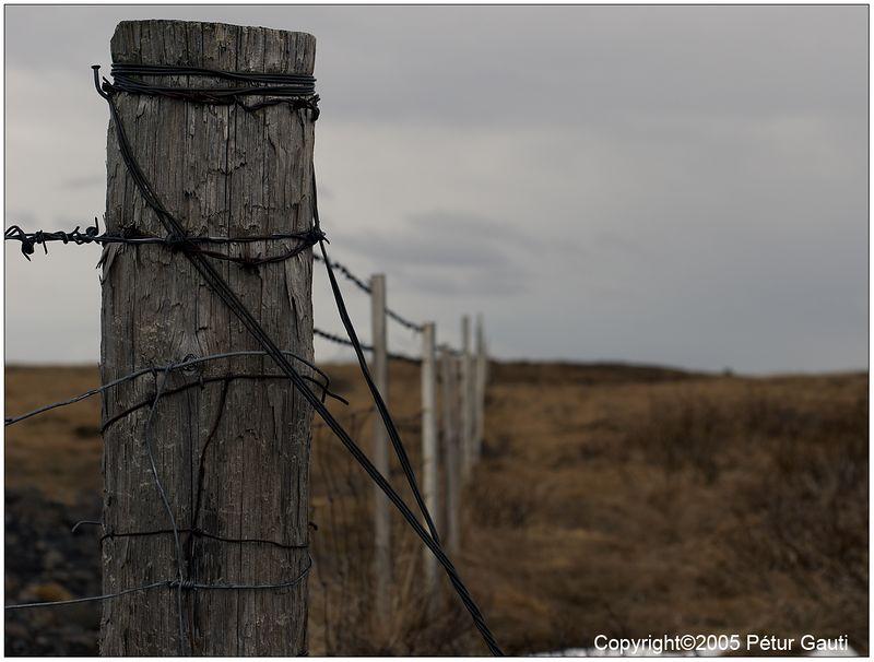 17 April. Fencepost by Gullfoss