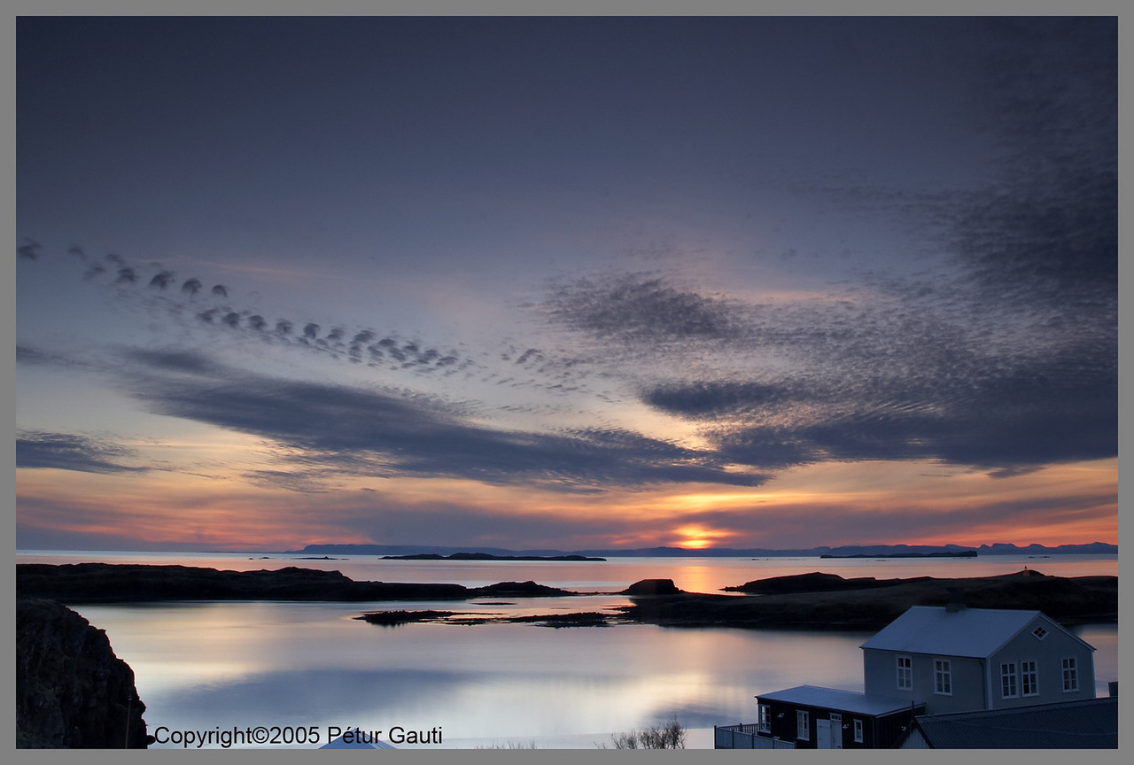 14. May. Sunday. Sunset in Stykkishólmur