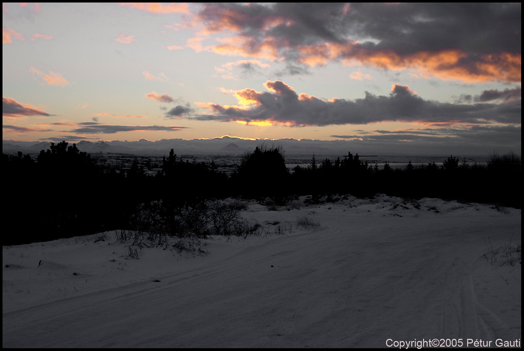 January 9th. Sunset in Öskjuhlíð.