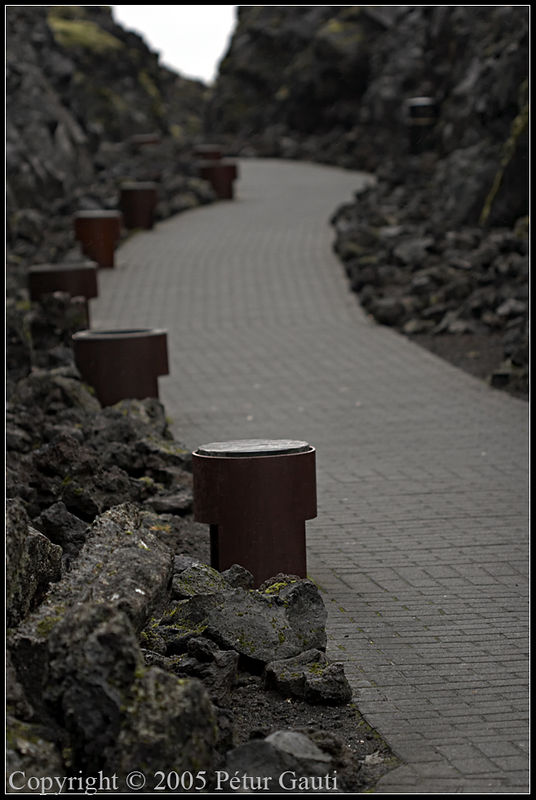 Nov. 18. Pathway at the Blue Lagoon.
