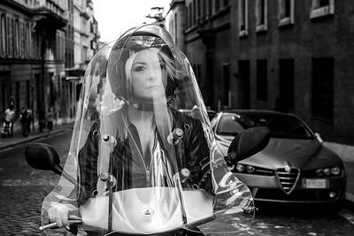 Lady Biker, Rome 2016.