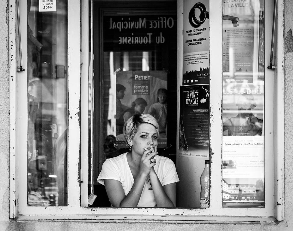Ticket girl, Carcassone - France 2014.