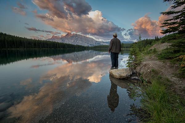 Standing Around Two Jack Lake